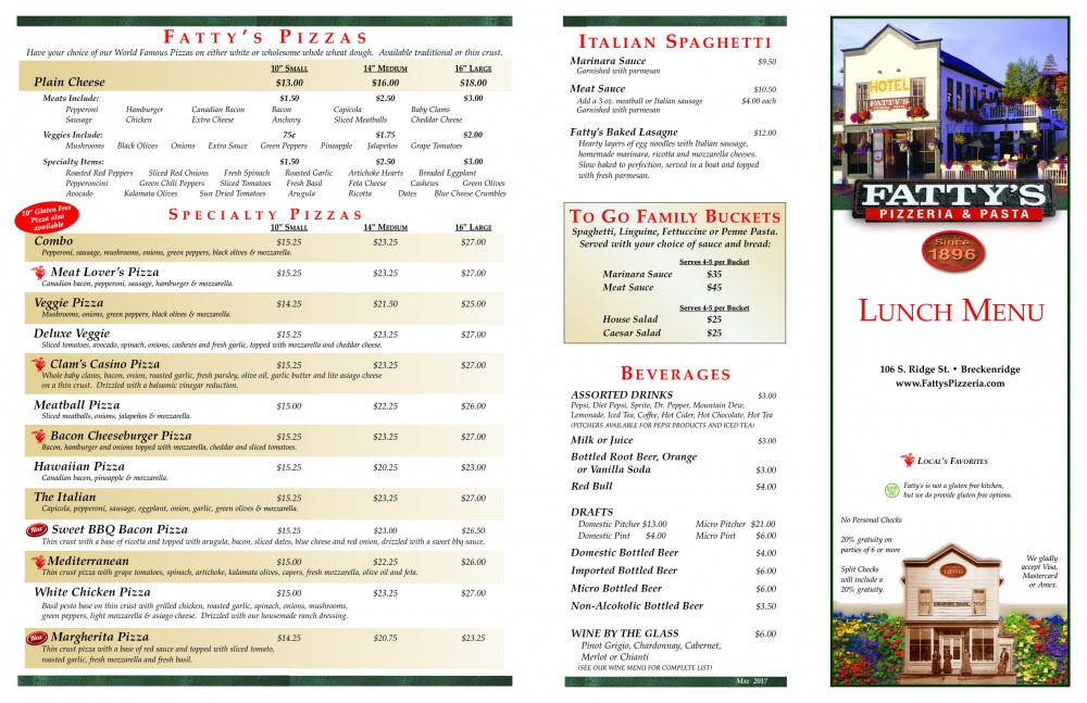 Fatty's-LUNCH menu